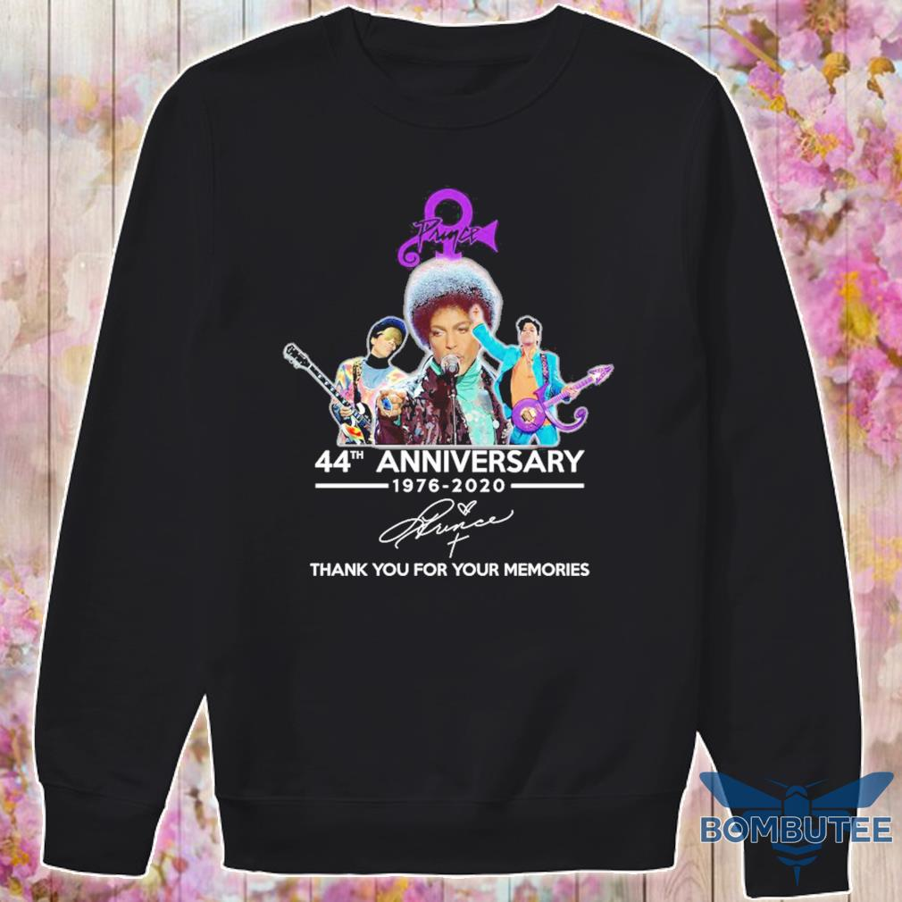 Prince 44th anniversary 1976 2020 thank you for your memories signature s -sweater