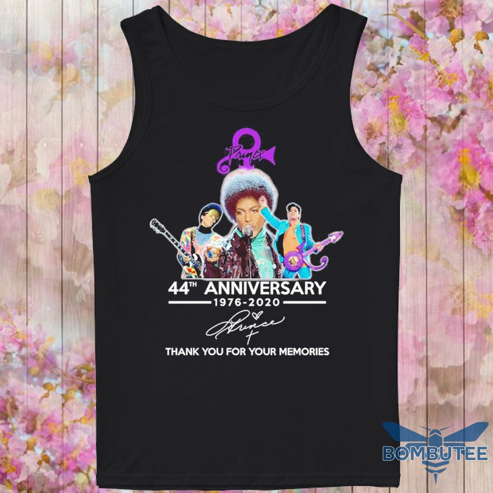 Prince 44th anniversary 1976 2020 thank you for your memories signature s -tank top
