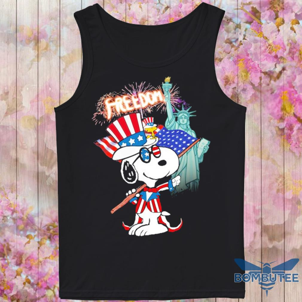Snoopy Flag Day freedom s -tank top