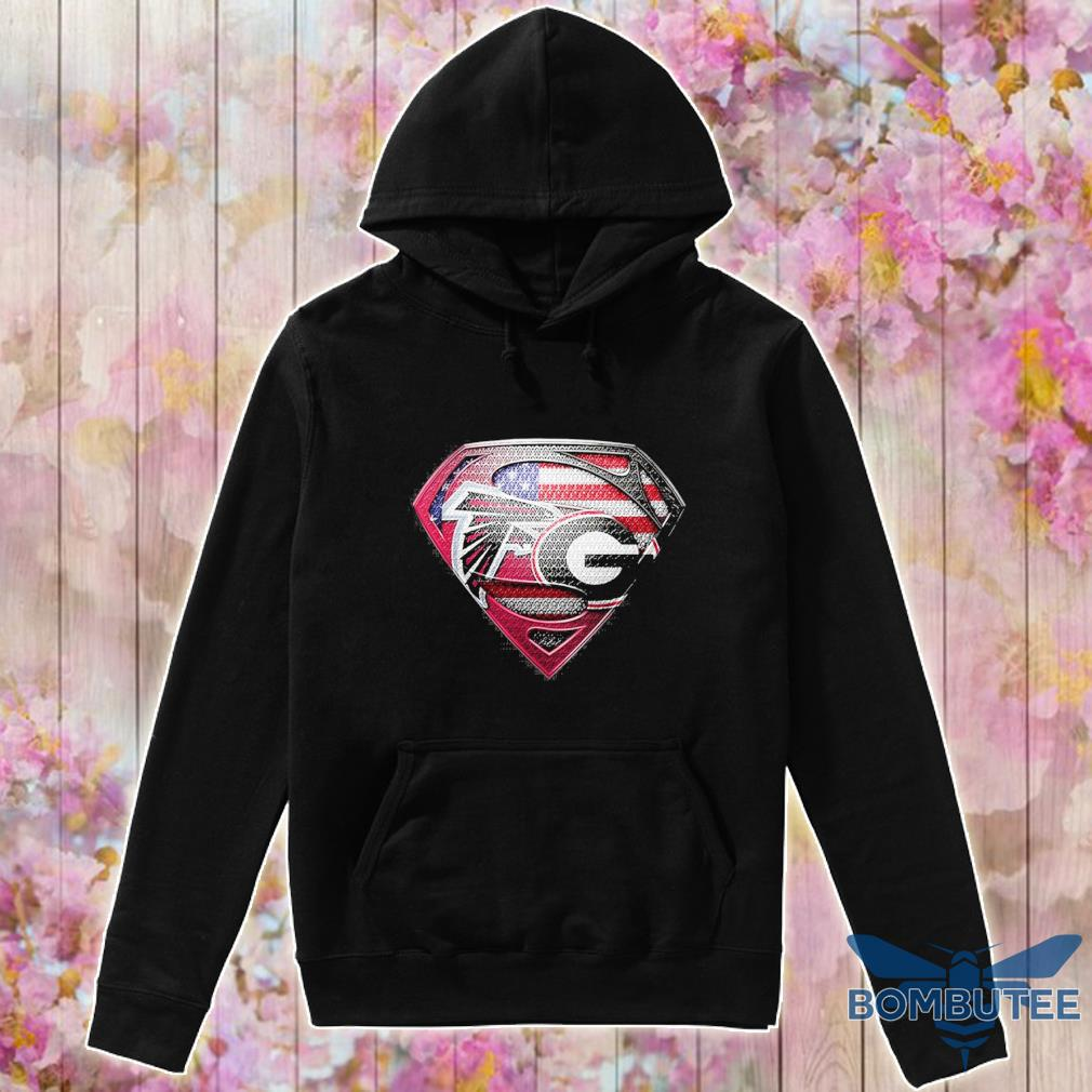 Superman Atlanta Falcons vs Georgia Bulldogs Heart s -hoodie