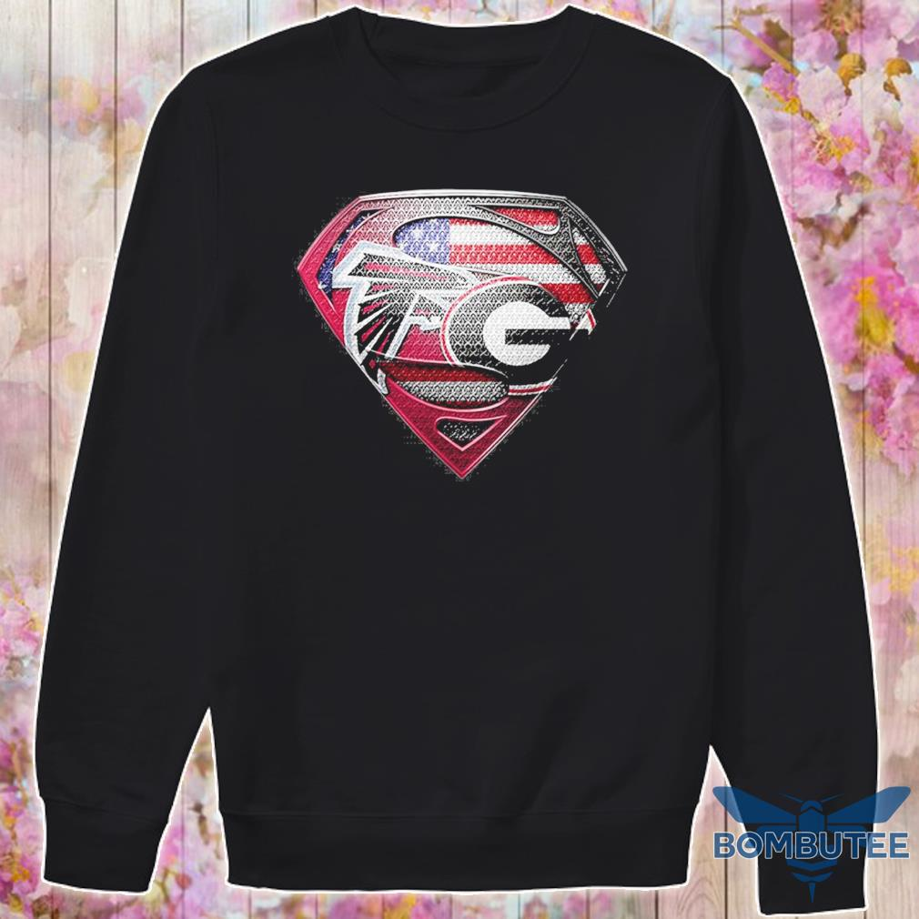 Superman Atlanta Falcons vs Georgia Bulldogs Heart s -sweater