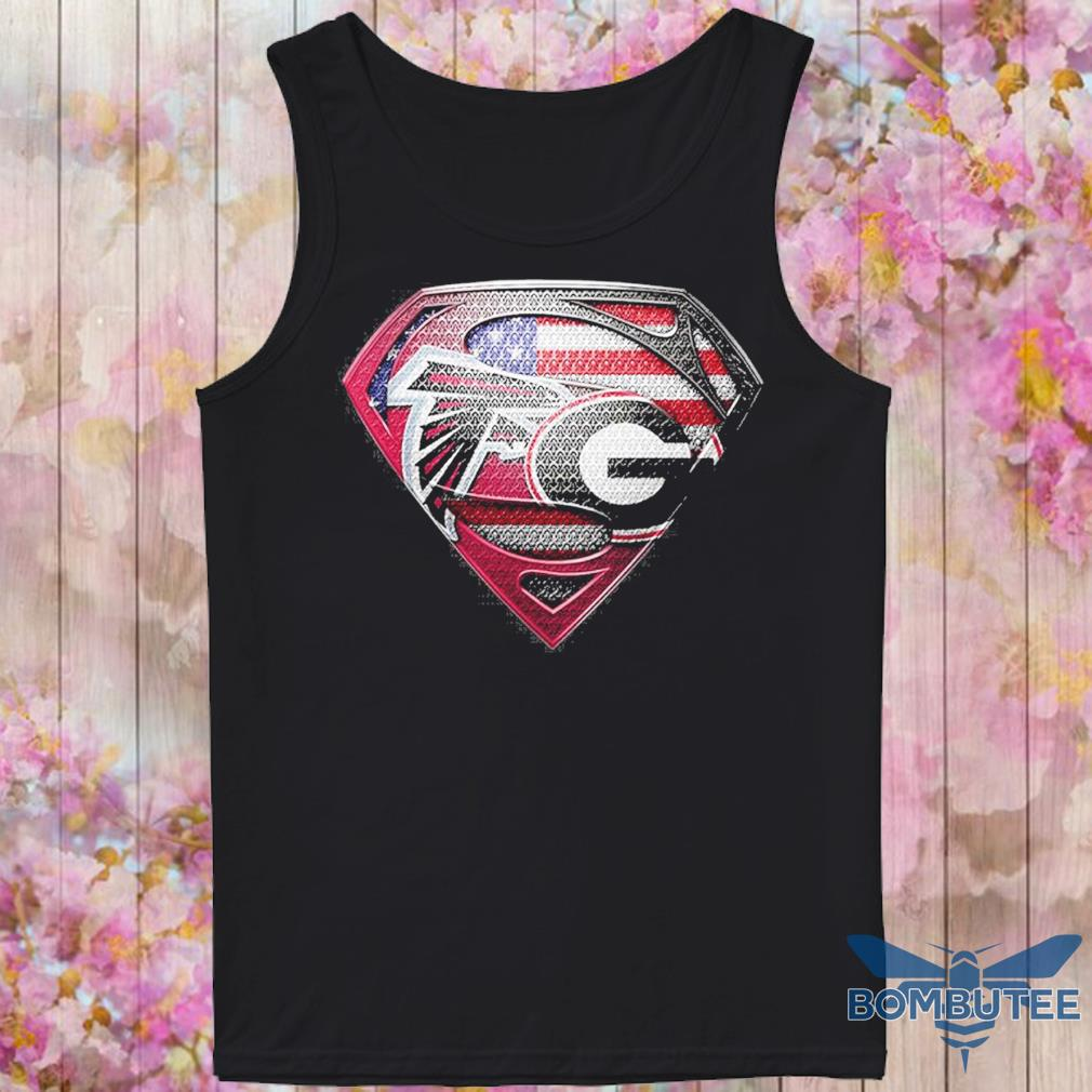 Superman Atlanta Falcons vs Georgia Bulldogs Heart s -tank top