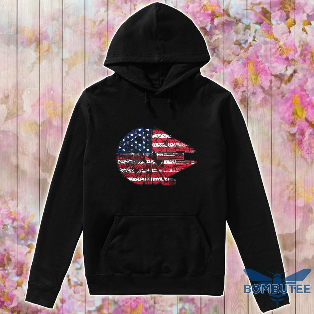 The American Flag Star Wars Millennium Falcon US Space Force Shirt -hoodie