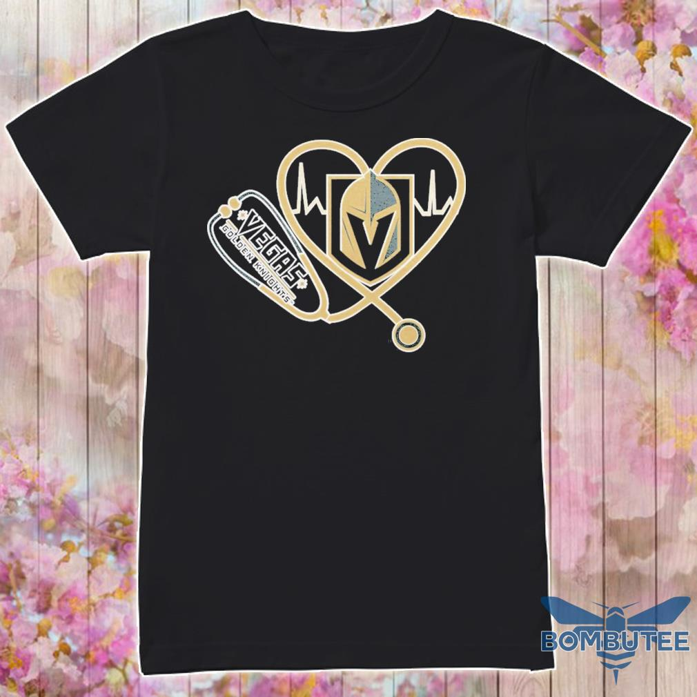 Vegas Golden Knights nurse stethoscope love heartbeat shirt