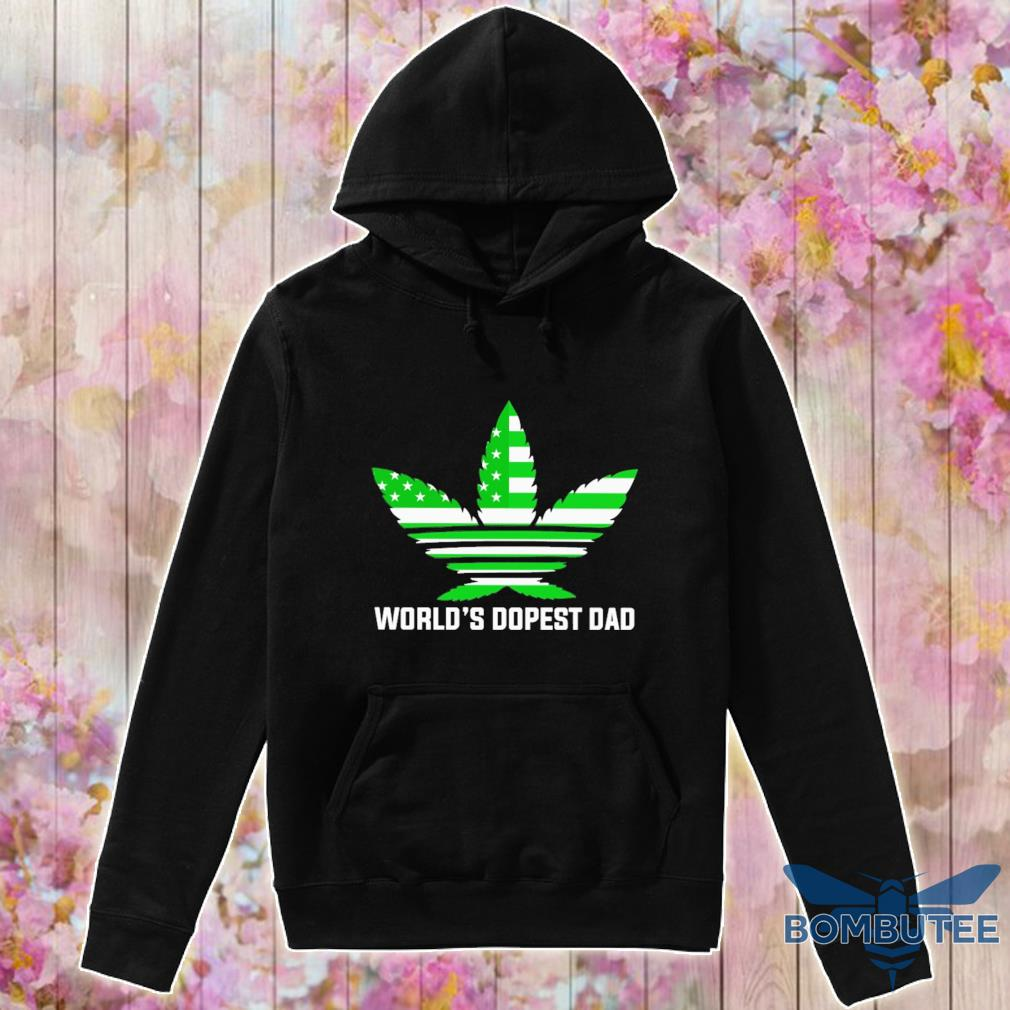 Weed Adidas American world's dopest Dad s -hoodie