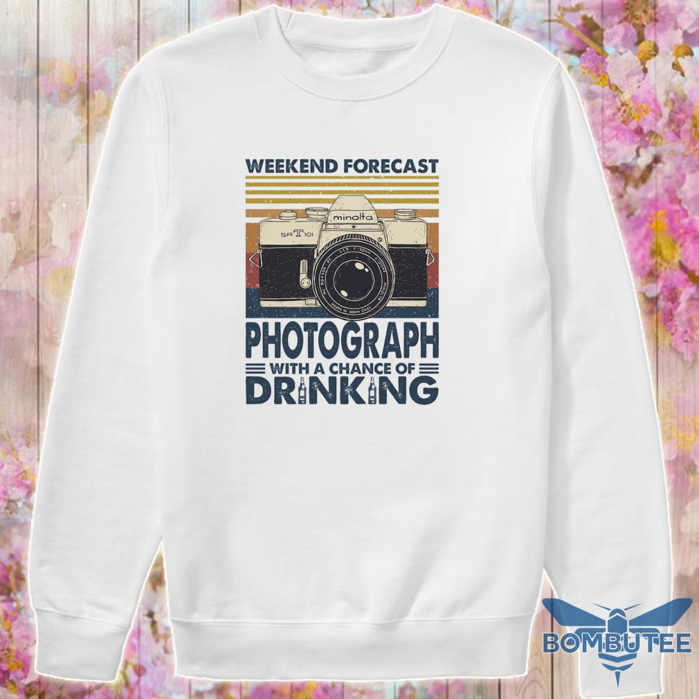 Weekend forecast Photograph with a chance of Drinking vintage s -sweater