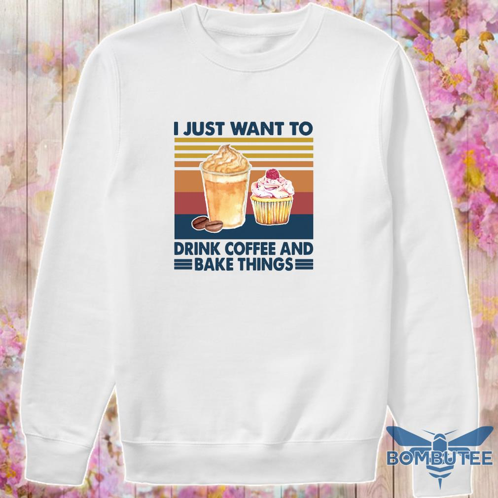 I just want to drink coffee and bake things vintage s -sweater