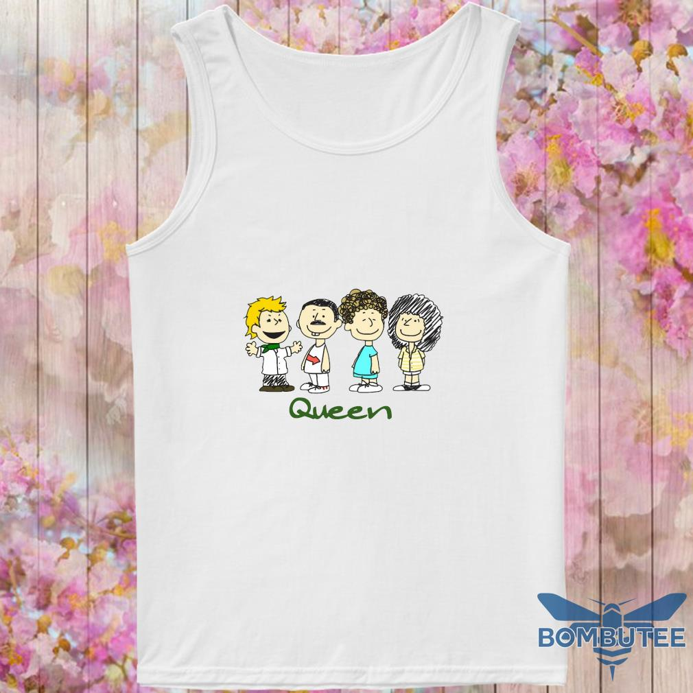 Nice The peanuts characters queen s -tank top