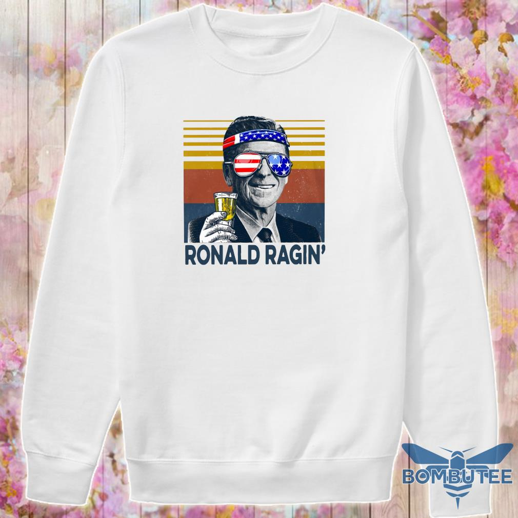 Ronald Ragin drink beer happy the 4th of july vintage s -sweater