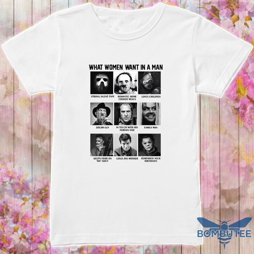 What women want in a man character shirt