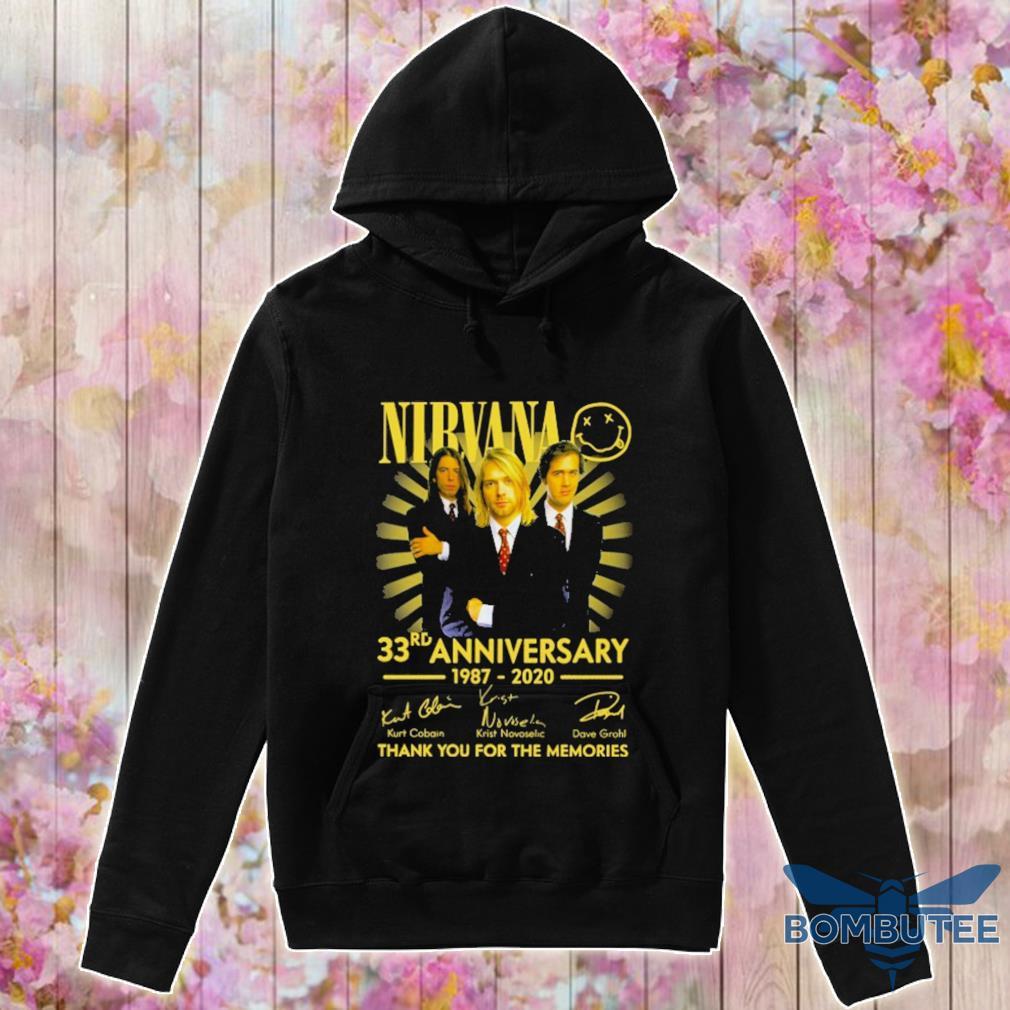Nibvana 33rd Anniversary 1987 2020 signatures s -hoodie