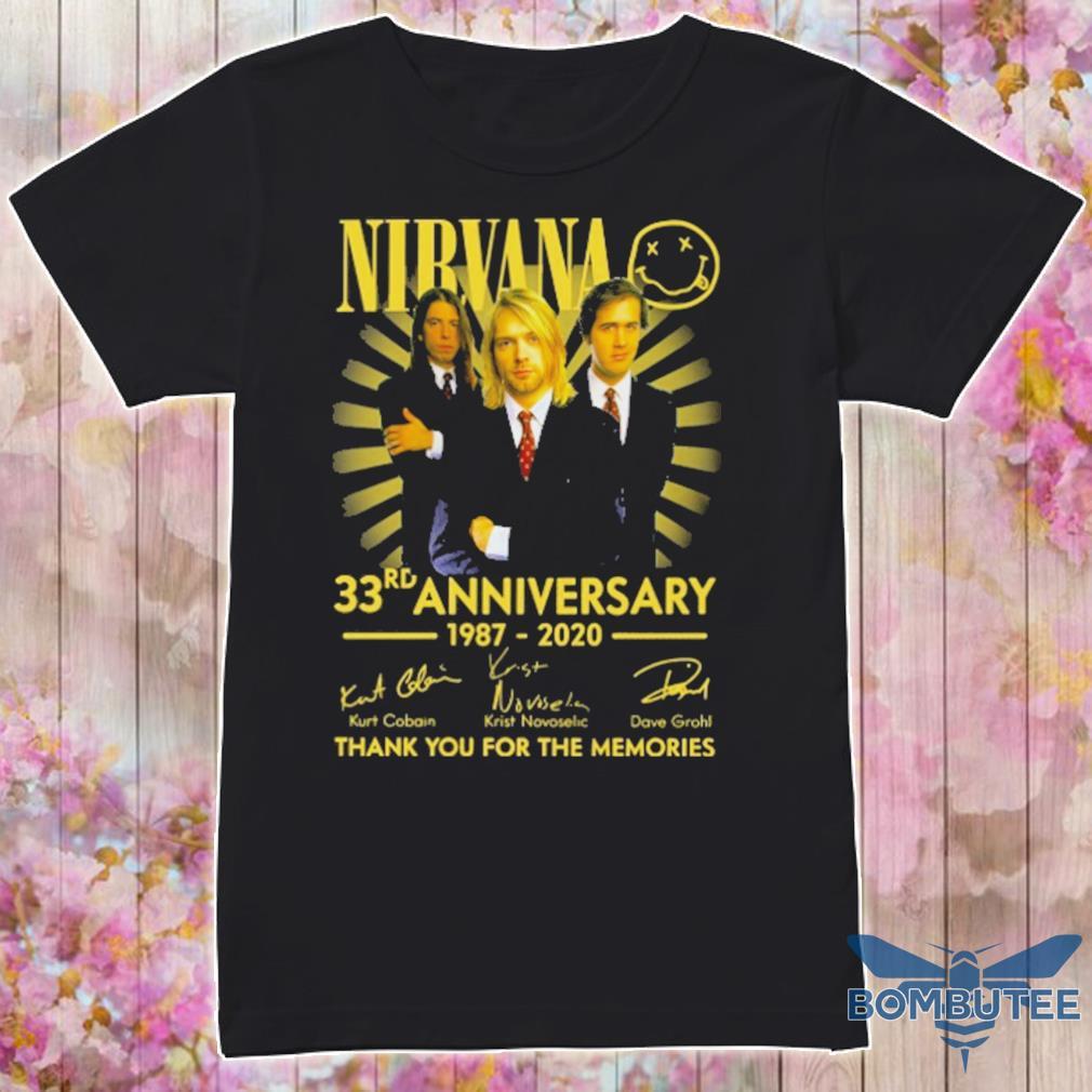 Nibvana 33rd Anniversary 1987 2020 signatures shirt