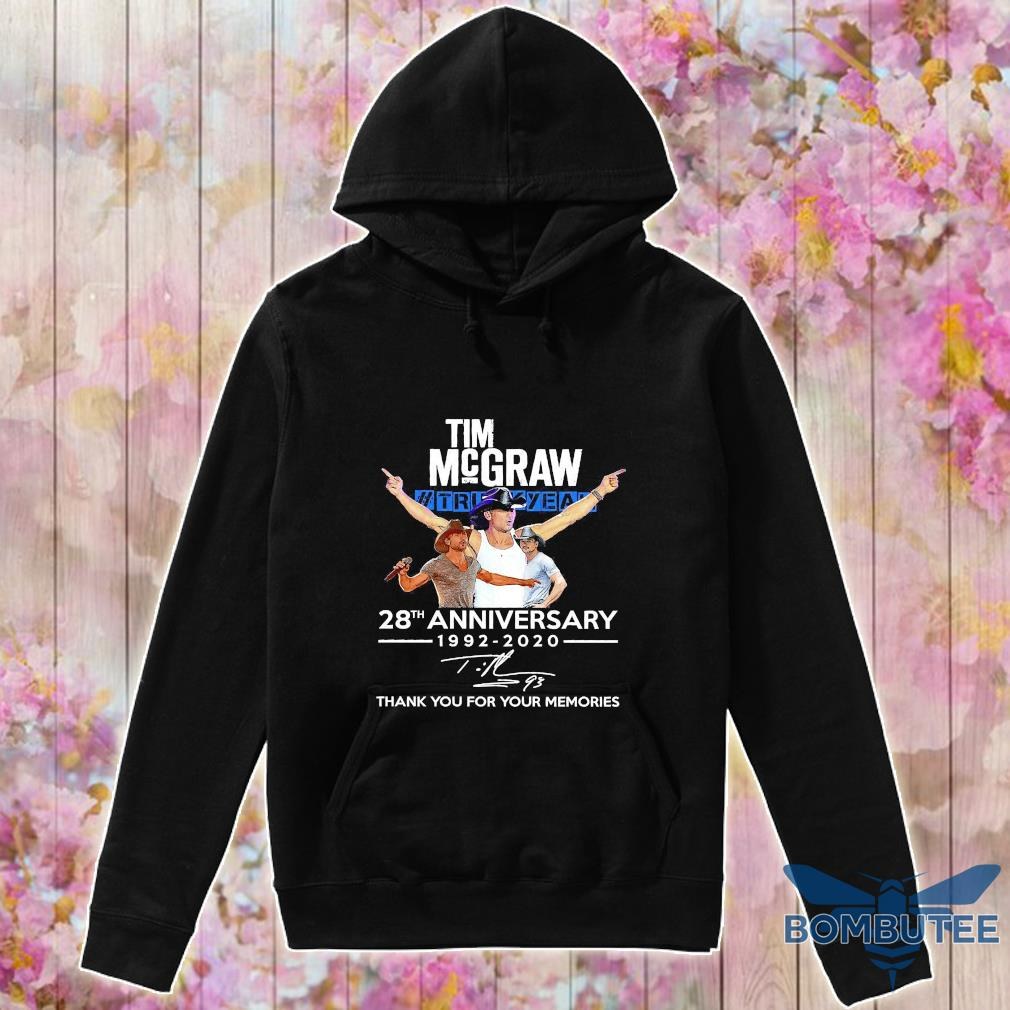 Tim Mcgraw Truck Yeah 28th anniversary 1992 2020 thank You for the memories signature s -hoodie