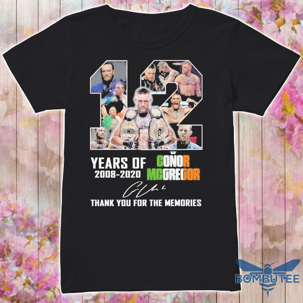 12 year of 2008 2020 Conor Mcgregor signature shirt