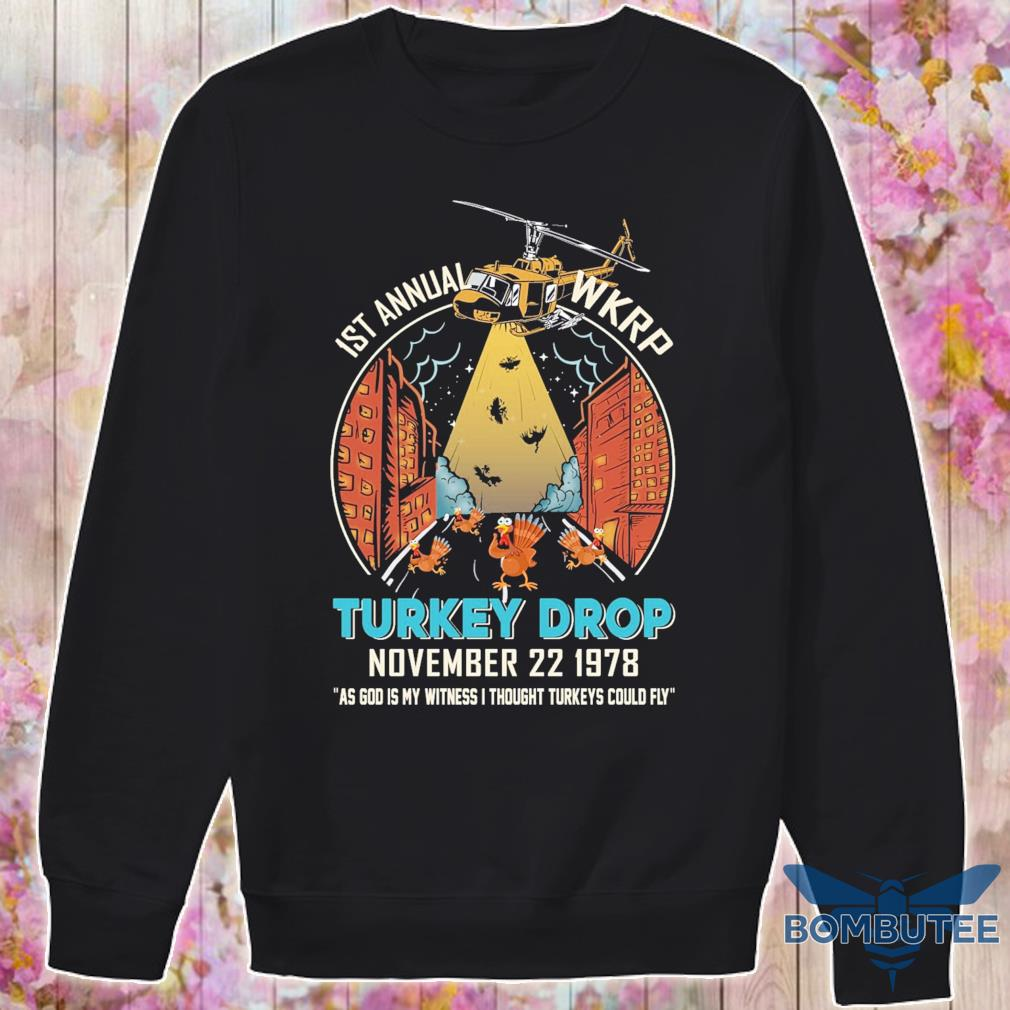 1st annual Wkrp Chickens Turkey Drop november 22 1978 s -sweater