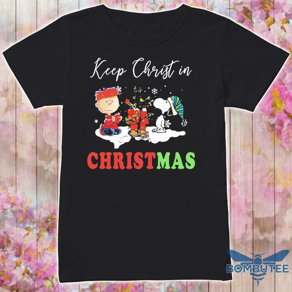 Snoopy and Charlie keep Christ in Christmas shirt