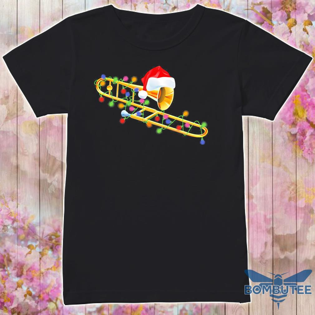 Trumpet Santa light Christmas shirt