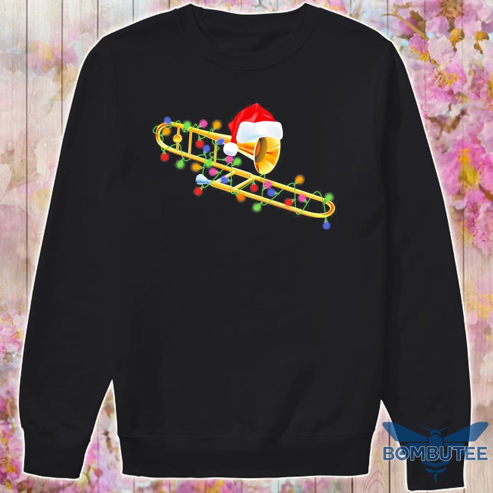 Trumpet Santa light Christmas s -sweater