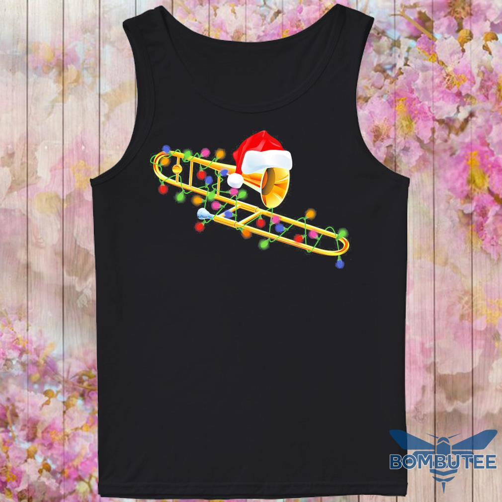 Trumpet Santa light Christmas s -tank top