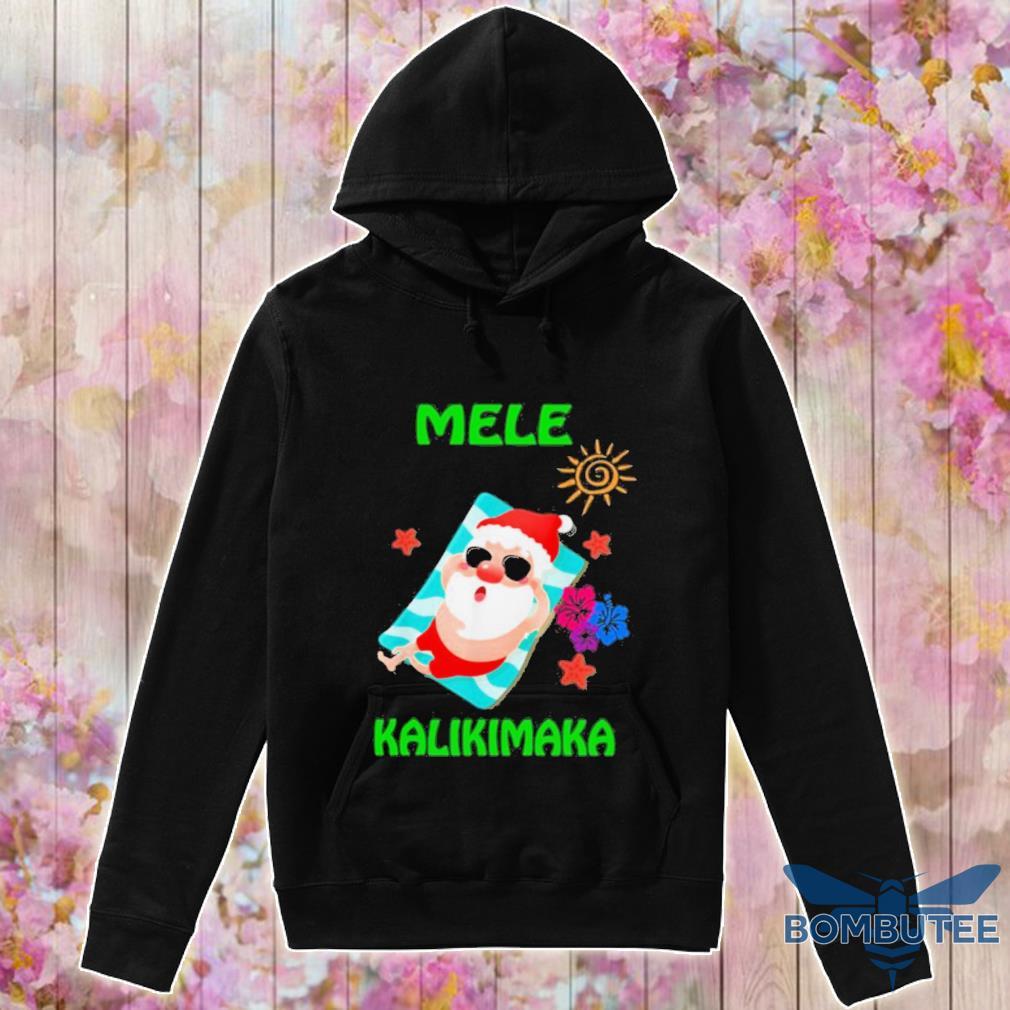 Official Beach Santa Mele Kalikimaka Hawaiian Christmas Hawaii Shirt -hoodie