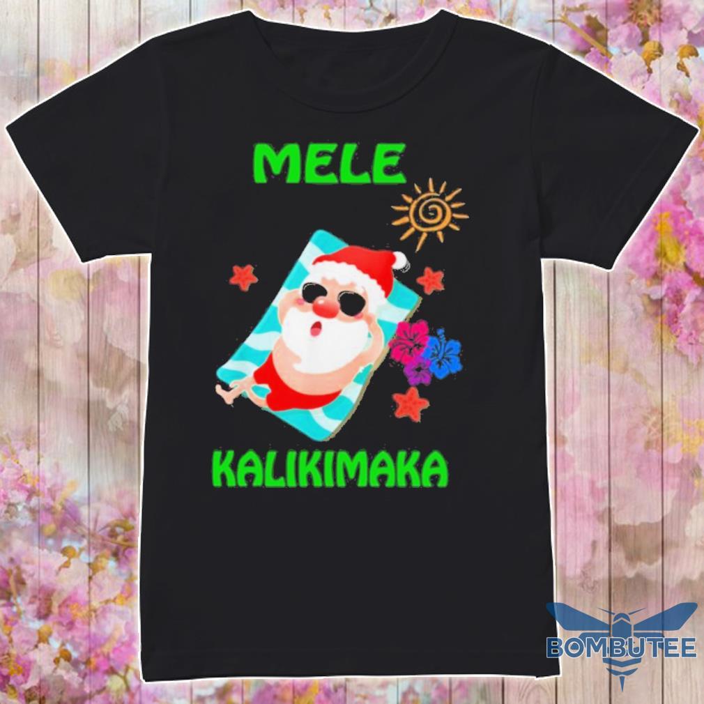 Official Beach Santa Mele Kalikimaka Hawaiian Christmas Hawaii Shirt