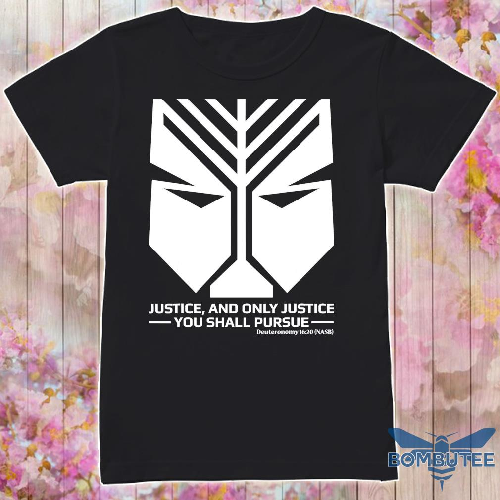 Official Official Scripture On Justice From Bible Shirt