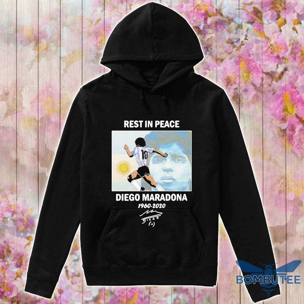 Official Rest In Peace Diego Maradona 1960-2020 Signature Shirt -hoodie