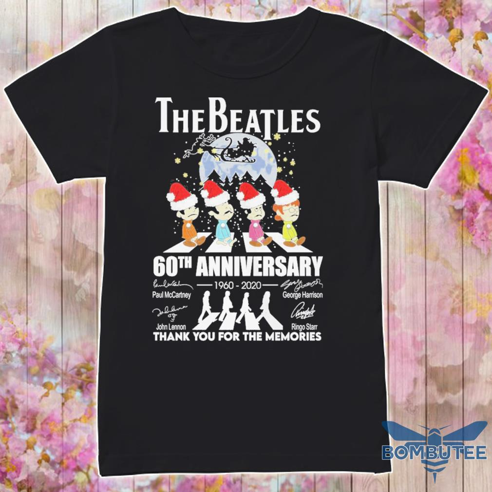 The Santa Beatles 60TH Anniversary 1960 2020 Christmas signatures shirt