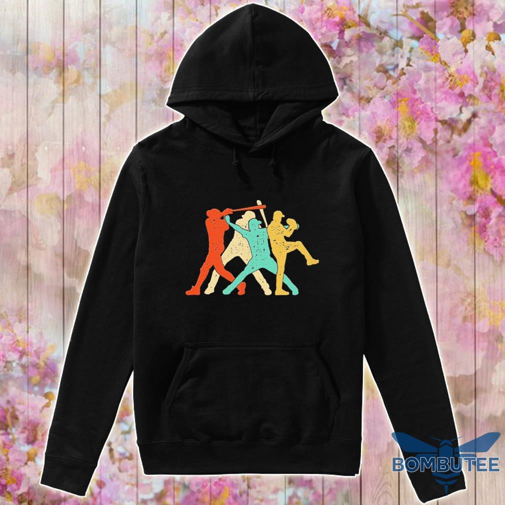 Official Baseball Roles Retro Silhouette Shirt -hoodie