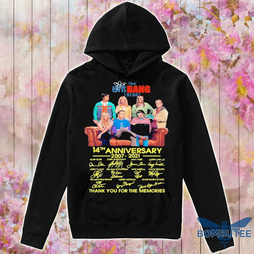 The Bigbang Theory 14th Anniversary 2007 2021 Signatures Thank For The Memories Shirt -hoodie