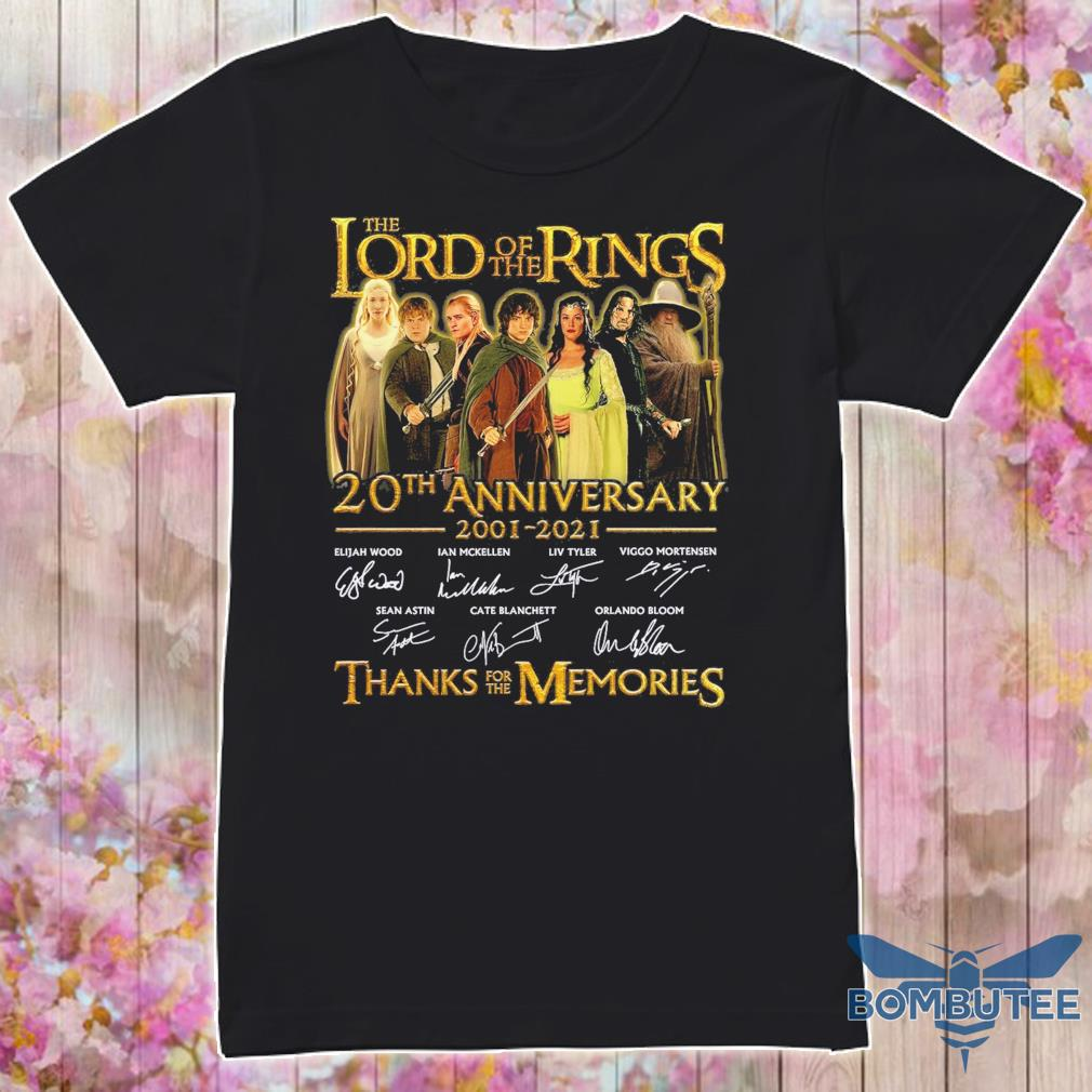The Lord of the Rings 20TH Anniversary 2001 2021 signatures shirt