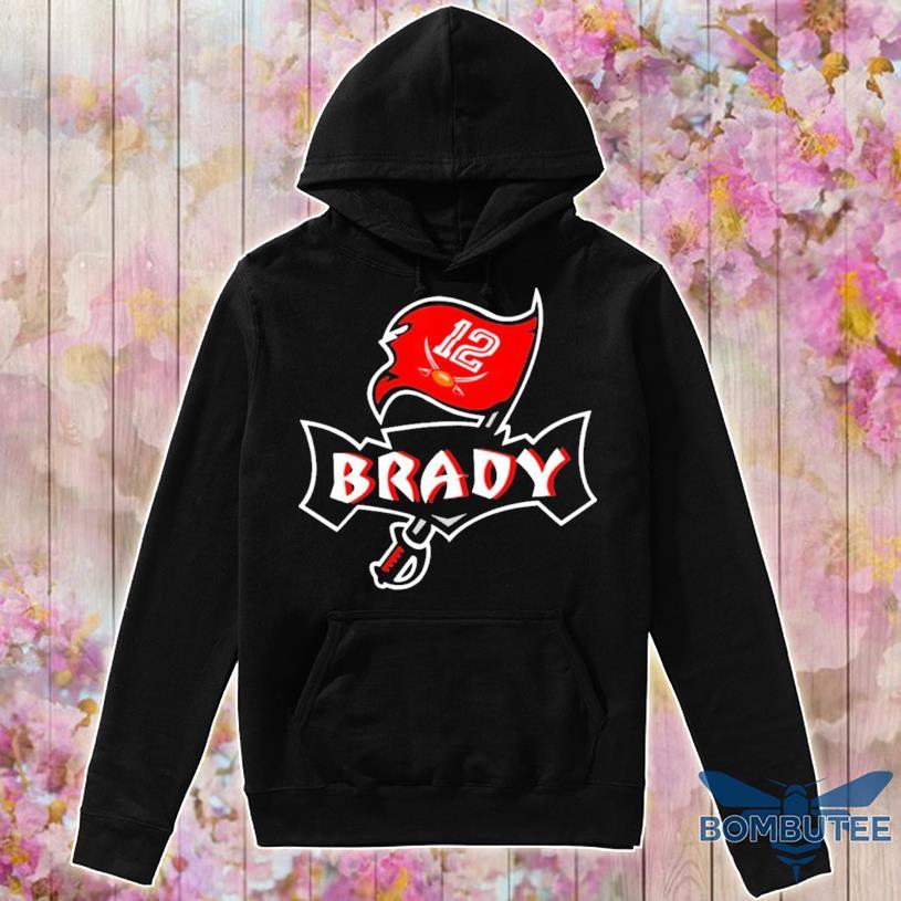 Tom Brady #12 Tampa Bay Buccaneers Flag Logo 2021, Buccaneers Nfc Champions 2021 Football Shirt -hoodie
