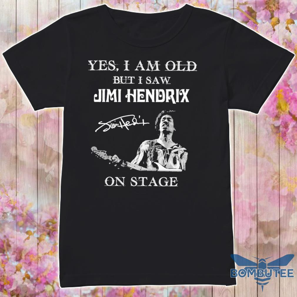 Yes i am old but i saw Jimi Hendrix on stage signature shirt