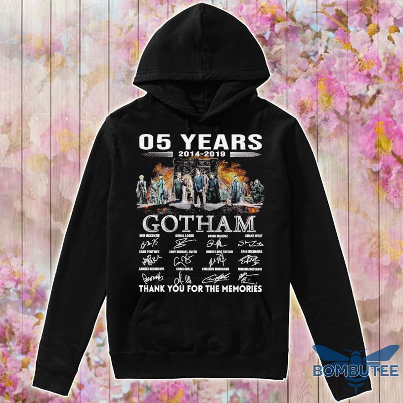 05 Years 2014 2019 Gotham Ben Mckenzie Donal Logue signatures s -hoodie